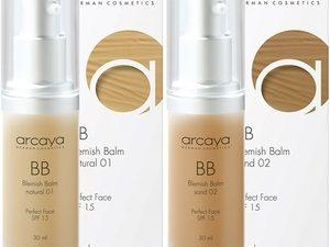 Arcaya BB Cream – Sand 02 – Darker Nuance Colour (30ml)
