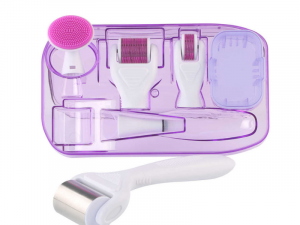 6 in 1 Ice Derma Roller System (White & Pink)