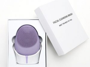 5 in 1 Wireless Exfoliating Facial Silicone Brush​ – Lavender