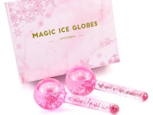 Ice Globes Facial Roller (Pink Glitter)