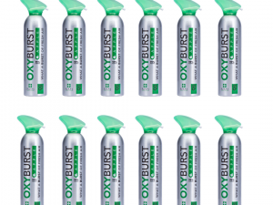 Oxyburst Pure Natural Apple Flavoured Oxygen 12L x 12 (Box of 12)
