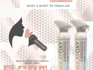 MikayOxy Beautygen Grapefruit 95% Purified Oxygen 9L x 2 (Duo Pack)