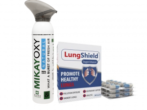 MikayOxy 9L Natural Oxygen & Lungshield Oxygen Enhancing Capsules
